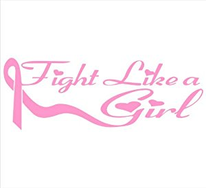 fight like a girl car decal – Because She's A Lady